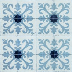 پوستر کاغذ دیواری طرح کاشی رنگ آبی کد 3000014 آلبوم تایلز