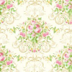 کاغذ دیواری تخفیف دار گل دار با رنگ شاد ساخت آمریکا از آلبوم داماسک فولیو 30202