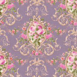 کاغذ دیواری گلدار تخفیف خورده کلاسیک ساخت آمریکا از آلبوم داماسک فولیو 30209