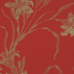 کاغذ دیواری گلدار قرمز طلایی قابل شستشو با برند بی ان کاراواجیو کد 46841